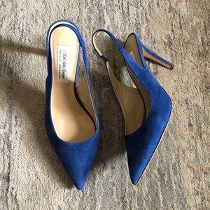 Saks Fifth Avenue Colbat Blue Sling Back Heels